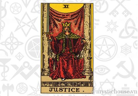 Ý nghĩa lá bài tarot Justice
