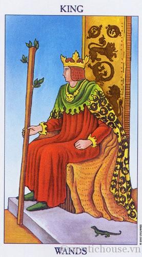 cảm nhận bộ bài Tarot king of wands