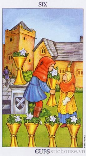 cảm nhận lá bài tarot six of cups