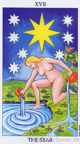 cảm nhận lá bài tarot the star