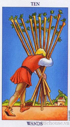 cảm nhận lá bài tarot ten of wands