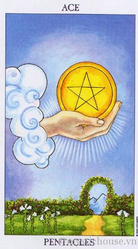 Cảm nhận lá bài Tarot Ace of Pentacles