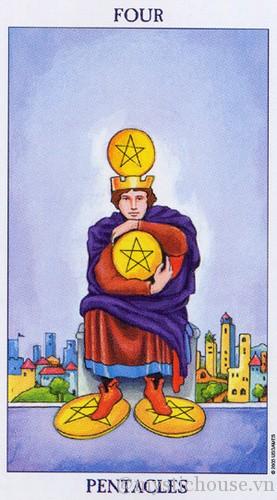 cảm nhận lá bài tarot four of Pentacles