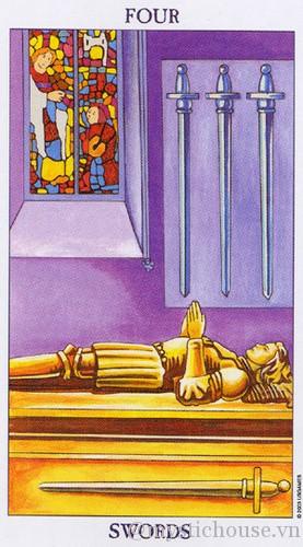cảm nhận lá bài tarot four of swords