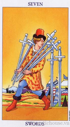 cảm nhận lá bài tarot seven of swords