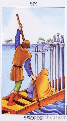 cảm nhận lá bài tarot six of swords