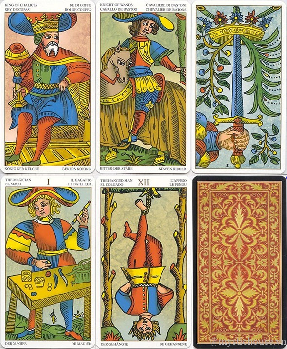 các lá bài Marseille Tarot