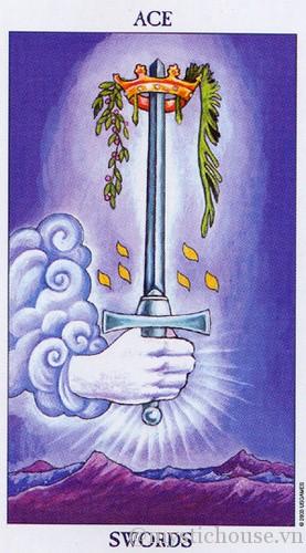 cảm nhận lá bài tarot ace of swords