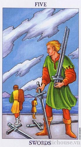 Ý nghĩa của lá bài tarot five of swords