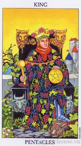 cảm nhận lá bài tarot king of Pentacles