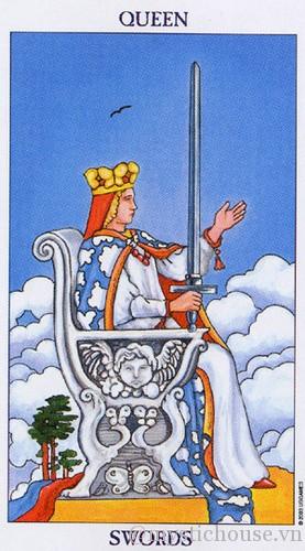 cảm nhận lá bài tarot queen of swords