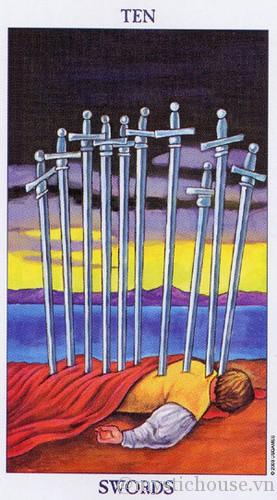 Ý nghĩa lá bài tarot Ten of Swords