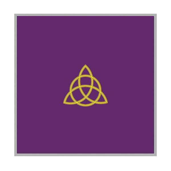 Khăn Trải Bài Tarot Purple Triquetra 12