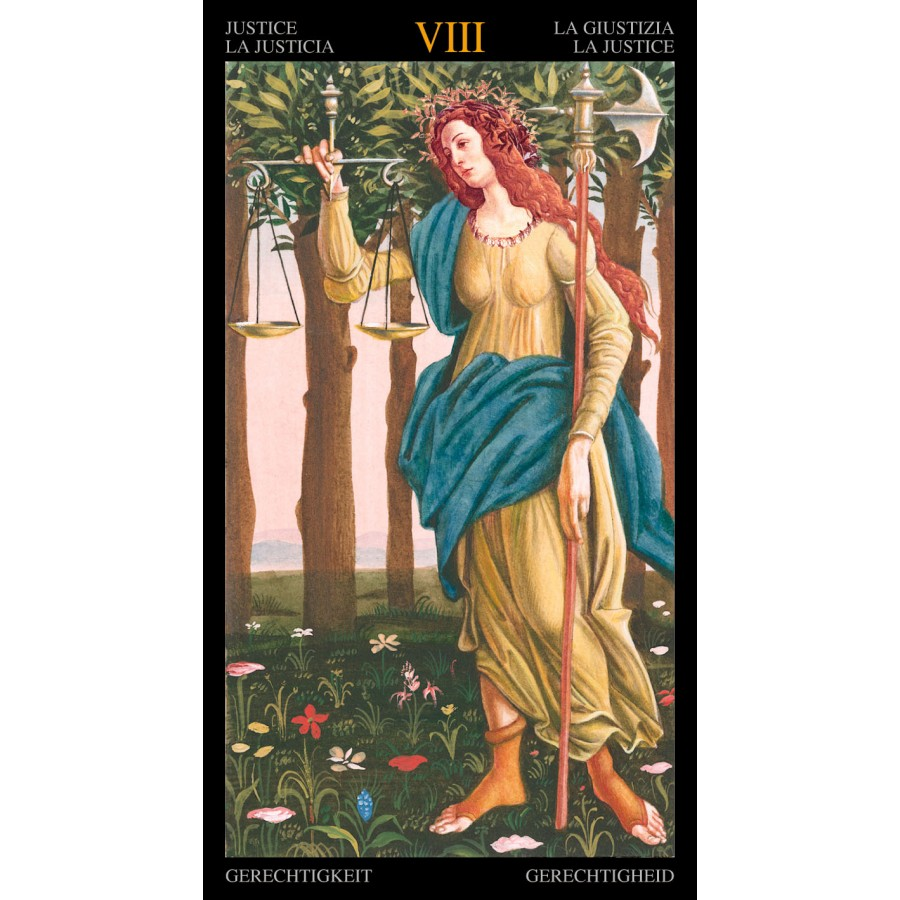 Golden Botticelli Tarot 7