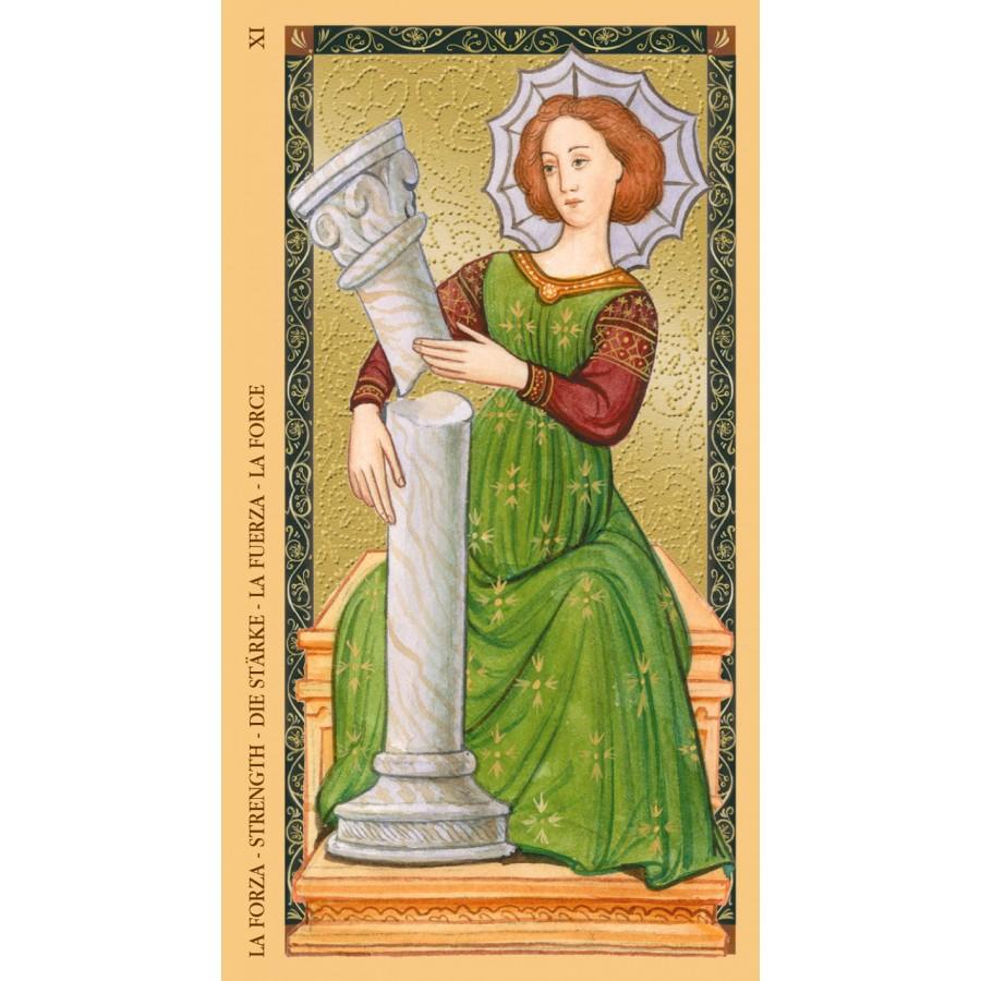 Golden Tarot of Renaissance (Estensi Tarot) 8