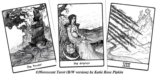 Cảm nhận bộ bài Efflorescent Tarot - Black and White