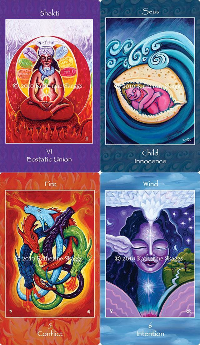 Cảm nhận ý nghĩa hình ảnh 78 lá bài Mythical Goddess Tarot