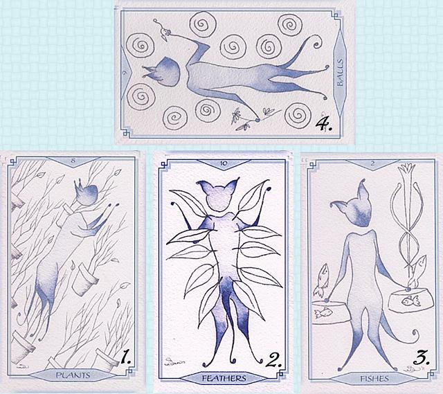 Bleu Cat Tarot - Huyền Thoại Về Loài Mèo Xanh