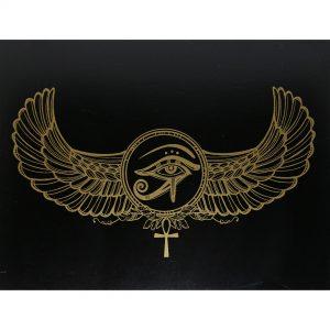 Hộp Gỗ Đen Horus Eye Đựng Bài Tarot 16