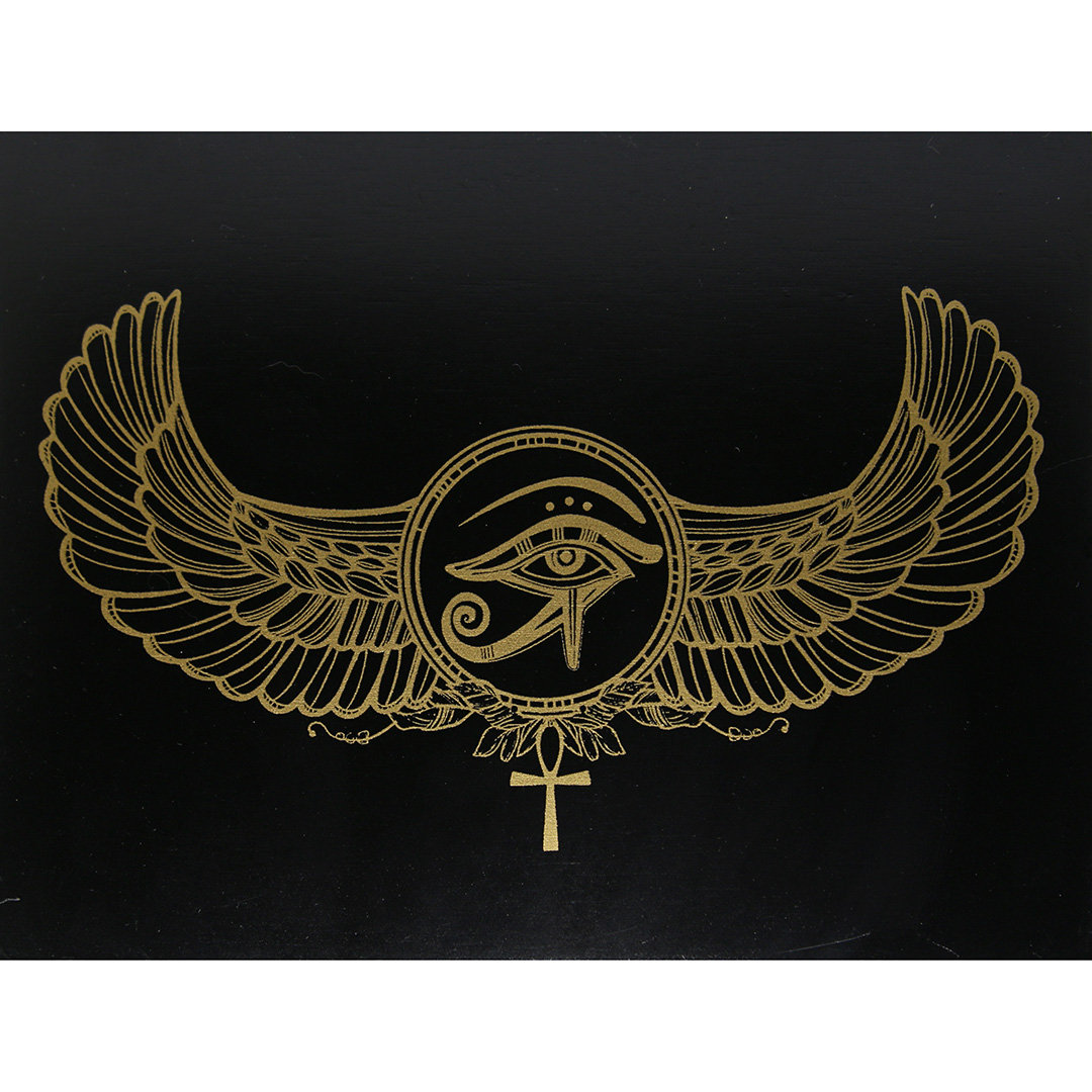 Hộp Gỗ Đen Horus Eye Đựng Bài Tarot 9