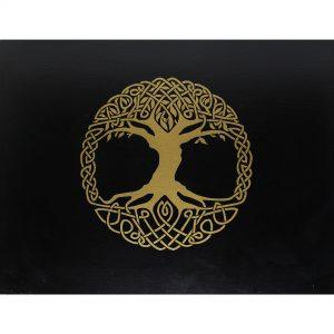 Hộp Gỗ Đen Tree of Life Đựng Bài Tarot 4