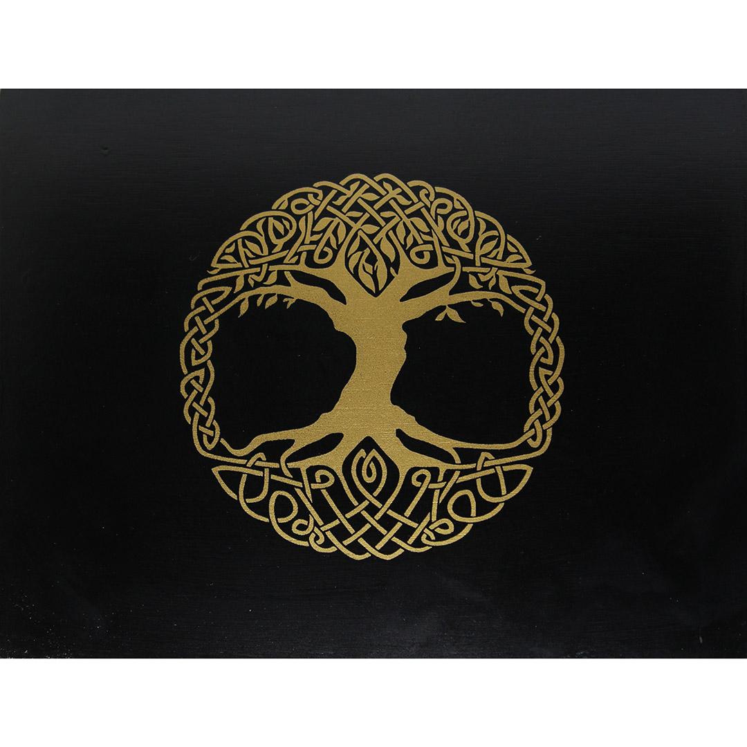 Hộp Gỗ Đen Tree of Life Đựng Bài Tarot 3