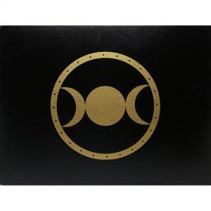 Hộp Gỗ Đen Triple Moon Đựng Bài Tarot 15