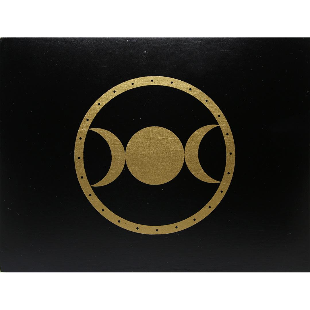 Hộp Gỗ Đen Triple Moon Đựng Bài Tarot 21