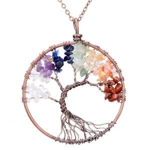 Mặt Dây Chuyền Tree of Life Chakra 13