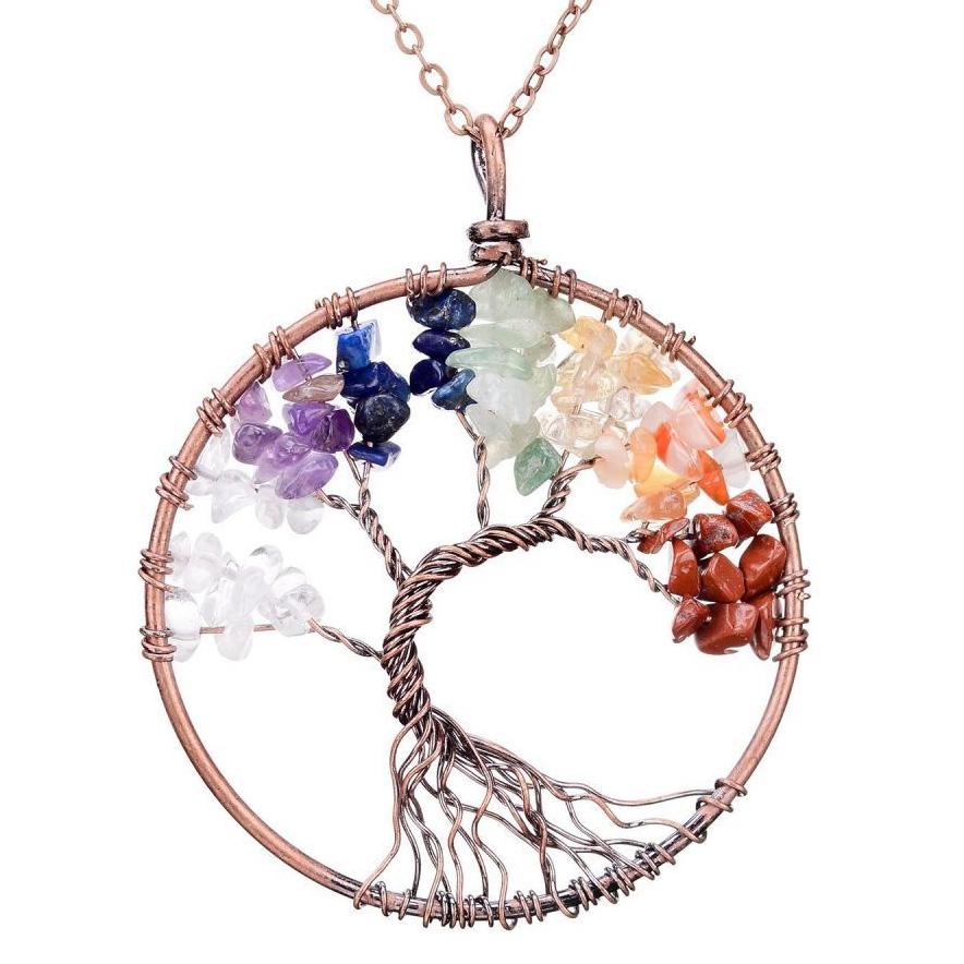 Mặt Dây Chuyền Tree of Life Chakra 15