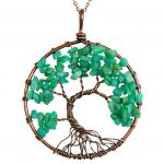 Mặt Dây Chuyền Tree of Life Unakite Jasper 1