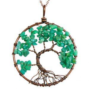 Mặt Dây Chuyền Tree of Life Amazonite 4