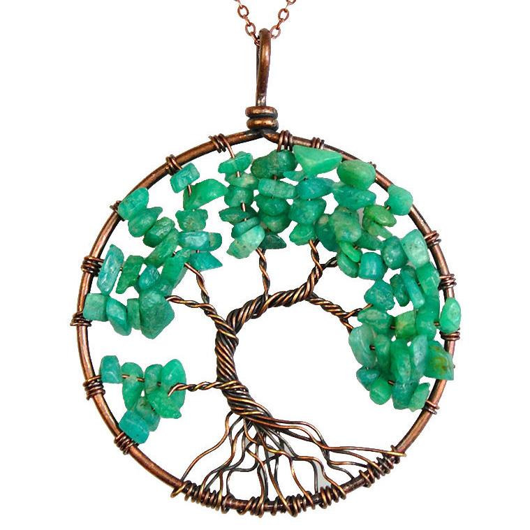 Mặt Dây Chuyền Tree of Life Amazonite 33