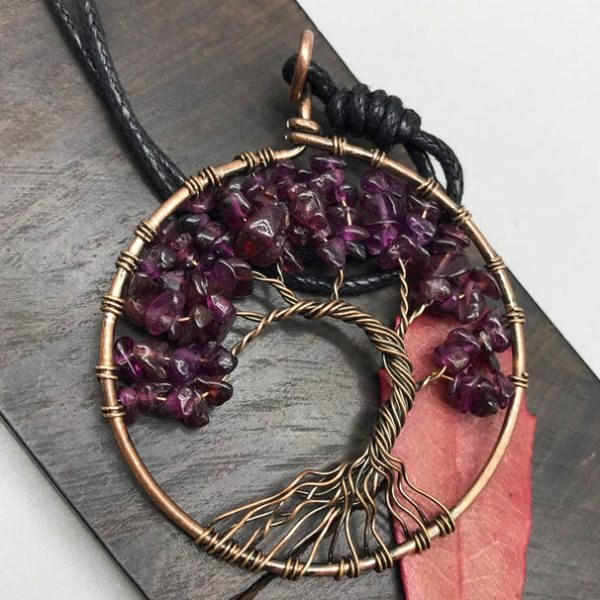 Mat Day Chuyen Tree of Life Amethyst 1