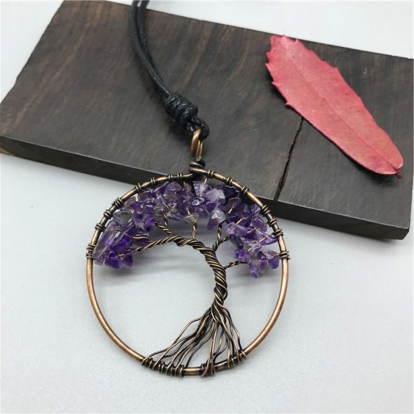 Mat Day Chuyen Tree of Life Amethyst 2