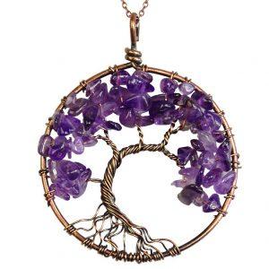 Mặt Dây Chuyền Tree of Life Amethyst 8