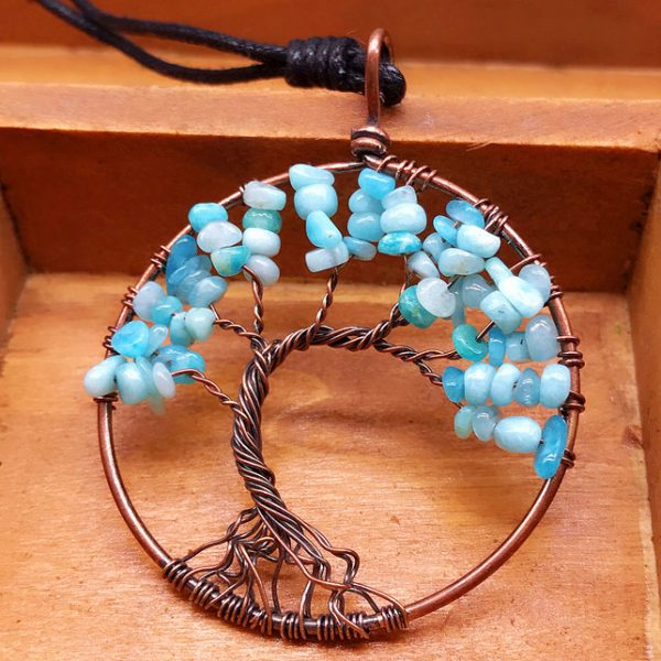 Mat Day Chuyen Tree of Life Aquamarine