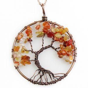 Mặt Dây Chuyền Tree of Life Carnelian 21