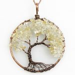 Mặt Dây Chuyền Tree of Life Clear Quartz 2