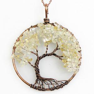 Mặt Dây Chuyền Tree of Life Citrine 8