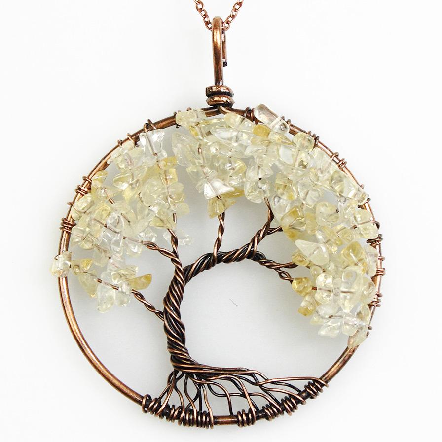 Mặt Dây Chuyền Tree of Life Citrine 7