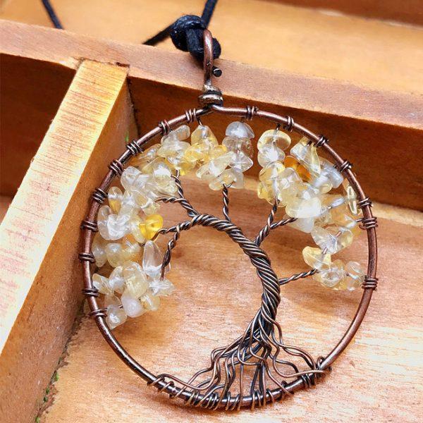 Mat Day Chuyen Tree of Life Citrine
