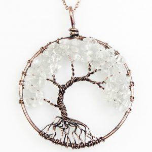 Mặt Dây Chuyền Tree of Life Sparkle Clear Quartz 6
