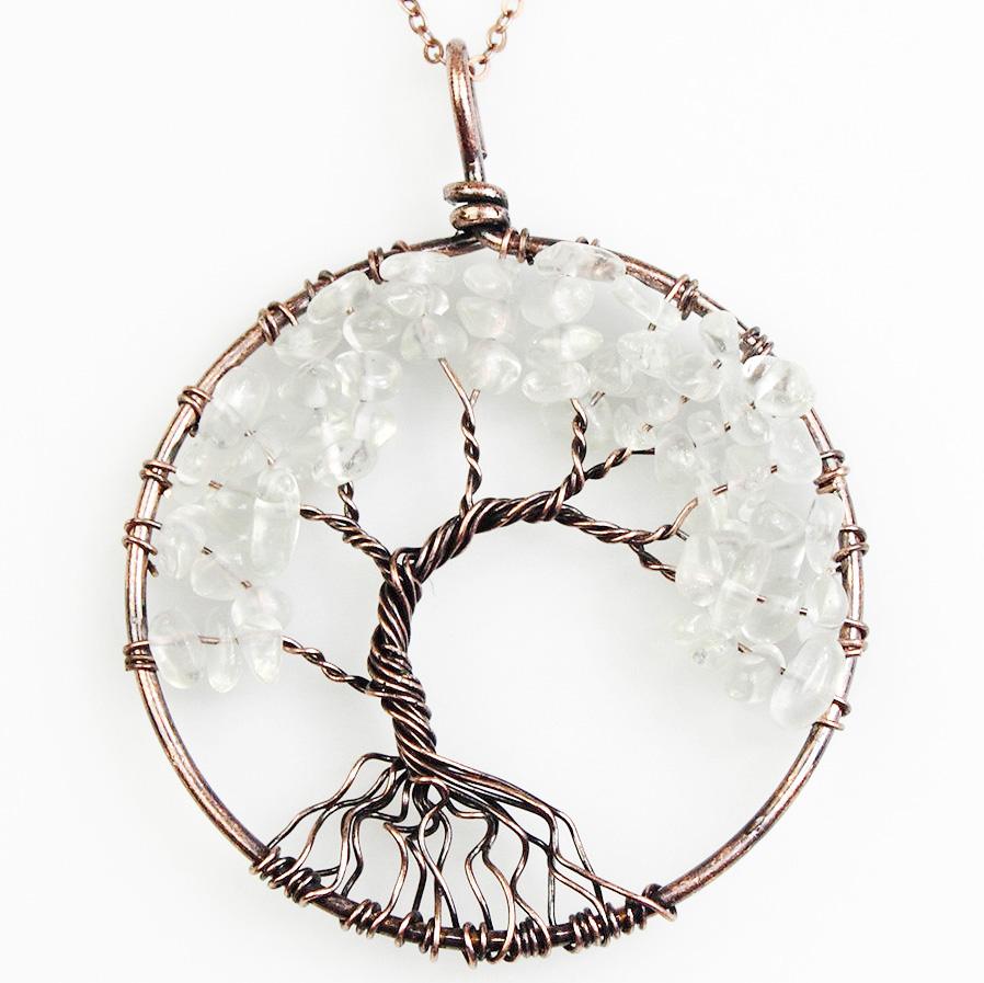 Mặt Dây Chuyền Tree of Life Clear Quartz 3