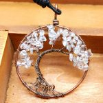 Mat Day Chuyen Tree of Life Clear Quartz