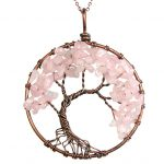 Mat Day Chuyen Tree of Life Rose Quartz 1