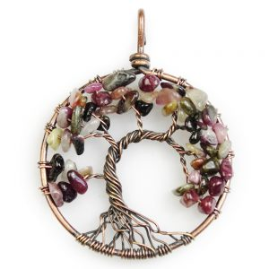 Mặt Dây Chuyền Tree of Life Tourmaline 9