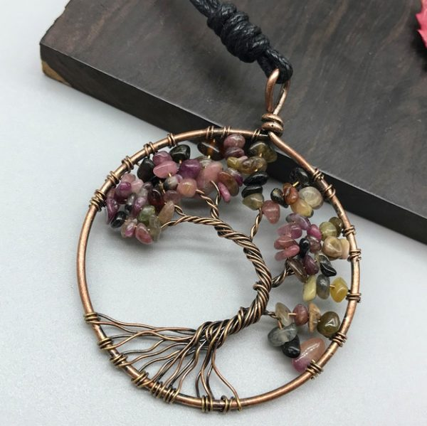Mat Day Chuyen Tree of Life Tourmaline