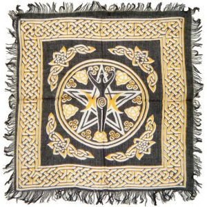 Khăn Trải Bài Tarot Pentagram Goddess 11