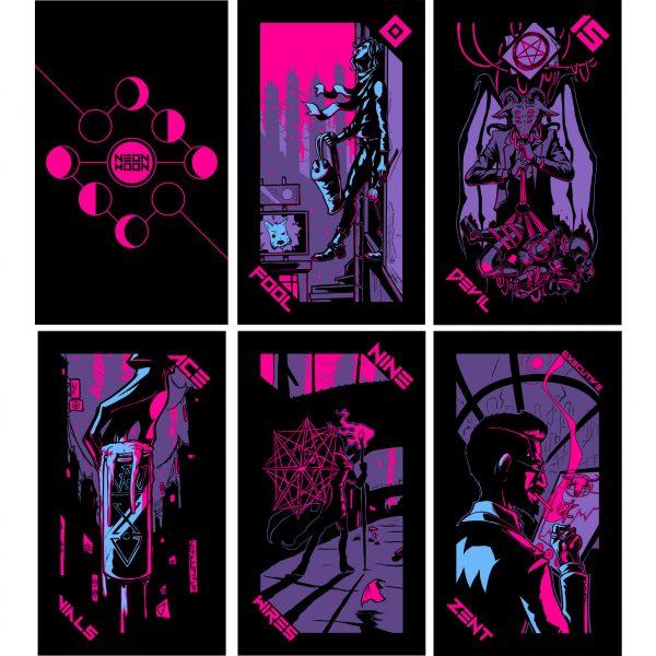 Neon Moon Tarot 13